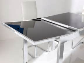 Black Glass Extending Dining Table Glass Dining Table Best Dining Table Ideas
