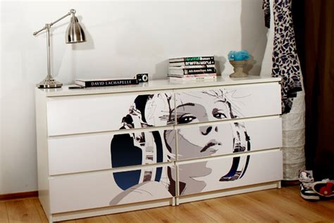 ikea furnitures customized ikea furniture with easy to apply prints digsdigs