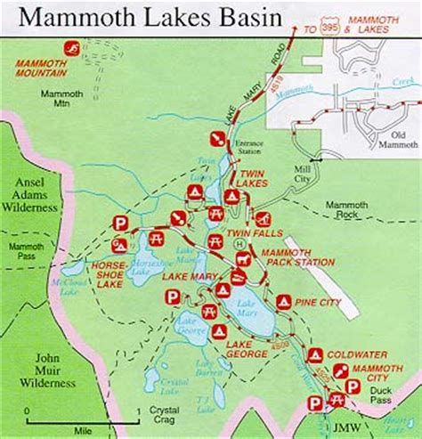 california map mammoth lakes mammoth lakes map of the area