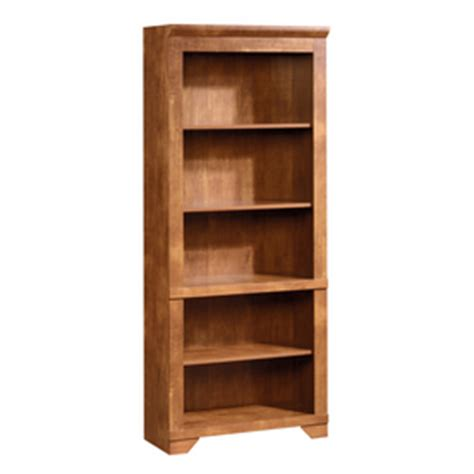 sauder brushed maple shaker cherry wood bookcase at