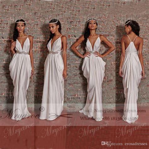 unique dress women fashion greek style white wedding