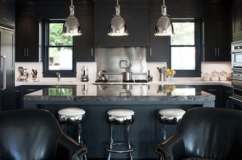 Kitchens With Different Colored Islands 20 black kitchens that will change your mind about using