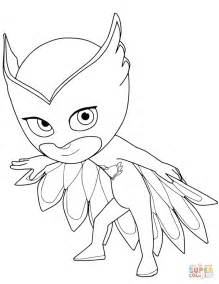 owlette pj masks coloring free printable coloring pages