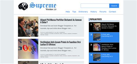 blogger themes free download 2014 supreme v2 responsive blogger template free download
