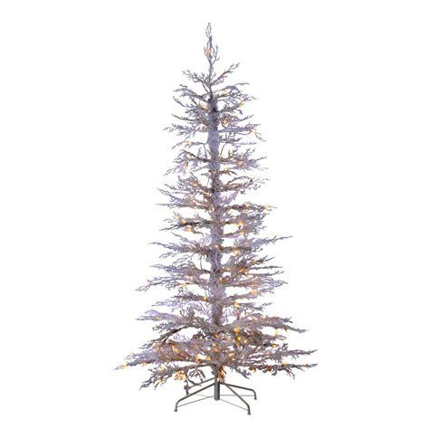 sterling 6 5 ft indoor pre lit flocked white twig