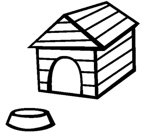 dog house food dog house coloring page dog house and food bowl coloring pages vitlt com