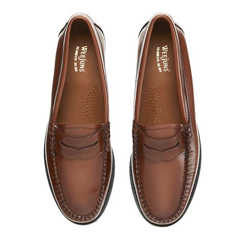 womens bass loafers bass weejuns s leather loafers mid brown