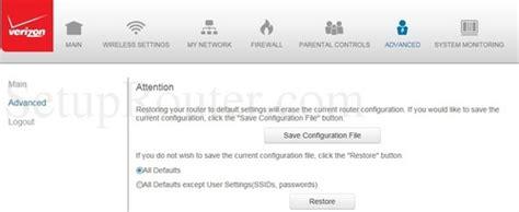 reset verizon router ip address verizon fios g1100 screenshots