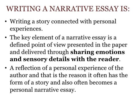 Sle Of Descriptive Essay About A Person by Sle Narrative Essay Personal Experience 28 Images 100 Sle Narrative Essay Personal