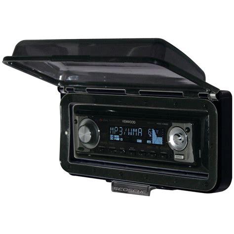boat radio dash kit marine radio cover up flip top door waterproof stereo