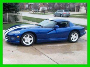 car engine manuals 1996 dodge viper user handbook sell used 1996 dodge viper luxury sport 6 speed manual premium performance in naperville