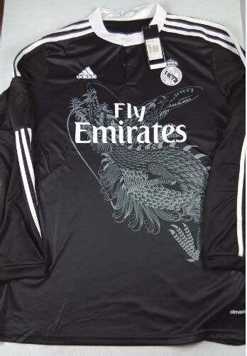Madrid Away 14 15 14 15 real madrid away black sleeve jersey shirt