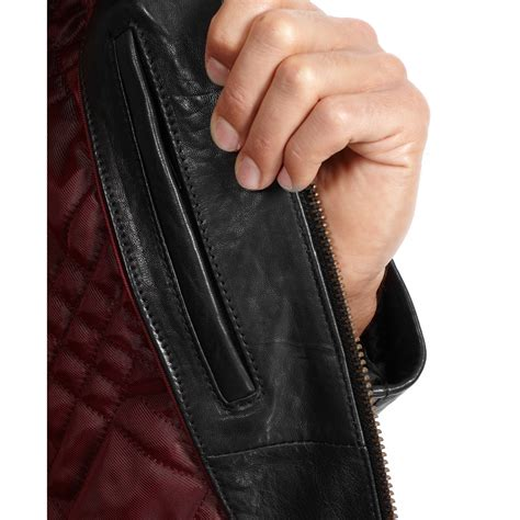 Rugged Leather Jacket by Marc New York Neptune Rugged Leather Jacket In Black