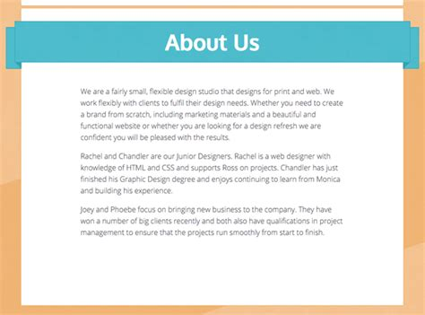 about us page template images templates design ideas