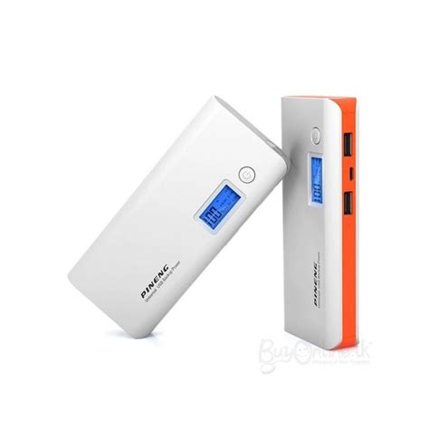 genuine pineng pn968 10000 mah power bank with display