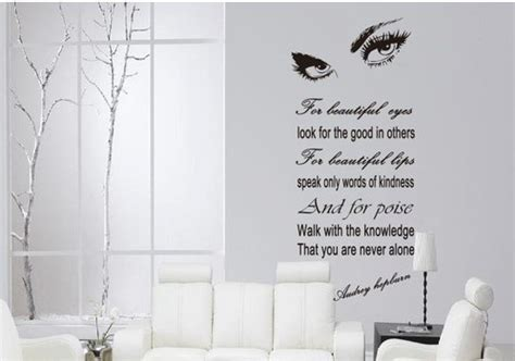 temporary peel off wall paint hepburn s sexy eyes removable vinyl quote wall sticker decal