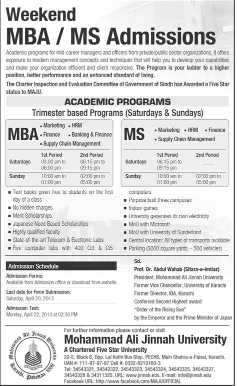 Weekend Mba Programs In Karachi by Admissions In Karachi Learningall Part 7