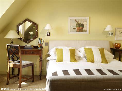yellow color home design 卧室摄影图 室内摄影 建筑园林 摄影图库 昵图网nipic com