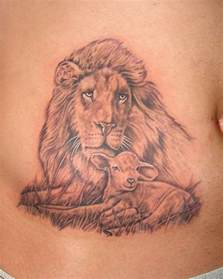 lion and lamb tattoo designs on stomach tattoobite com
