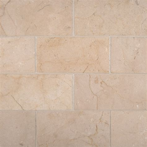 crema marfil marble 3x6 subway tile honed