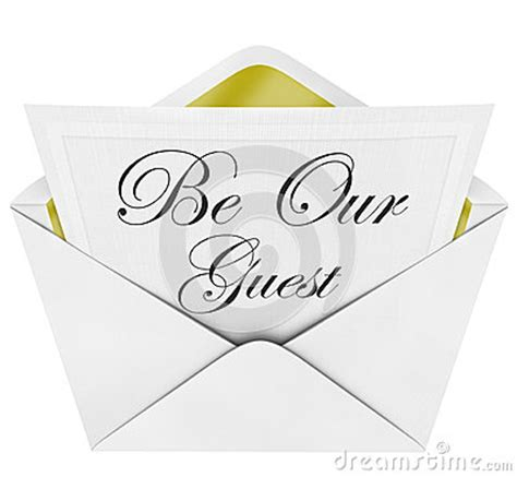 Inviting Words by Be Our Guest Invitation Open Envelope Cordially Invited