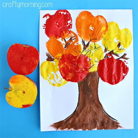 apple craft projects apple sting tree craft for to make crafty morning