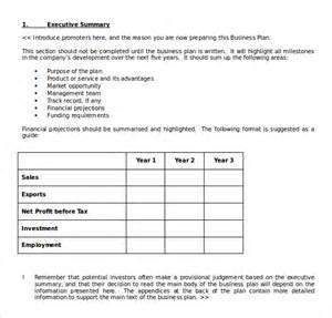 Business Plan Template Gov by Business Plan Template Free Word