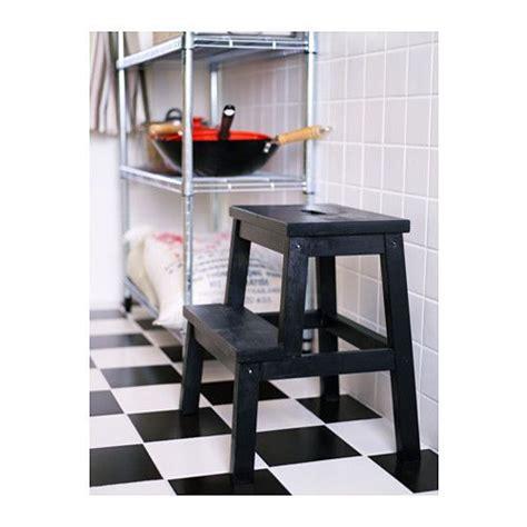 sgabello scaletta ikea bekv 196 m scaletta sgabello nero stools kitchen