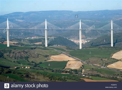 Millau Bridge View Of The Millau Viaduct The Tallest Cable Stayed