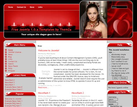 free dating site templates free templates 187 joomla 1 0 x 187 take a look at the