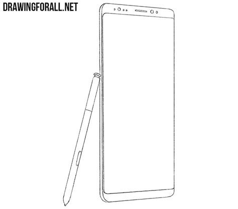 Galaxy Note 8 Sketches by How To Draw A Samsung Galaxy Note8 Drawingforall Net