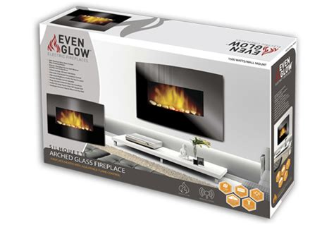 Even Glow Electric Fireplace by Even Glow Silhouette Arched Glass Electric Fireplace