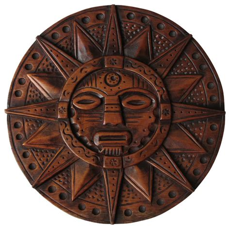 sofia s findings sun god inca wooden crafts hand carved