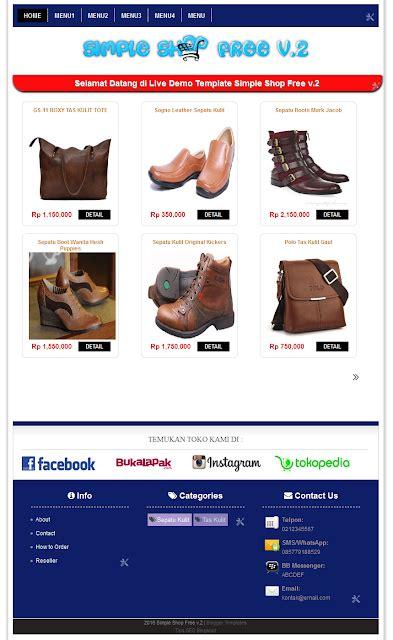 template toko online versi mobile 6 template toko online responsive gratis dan premium