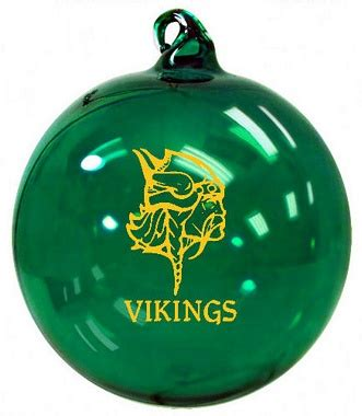 vikings logo school christmas ornament