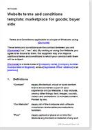website terms and conditions templates t c for web sites