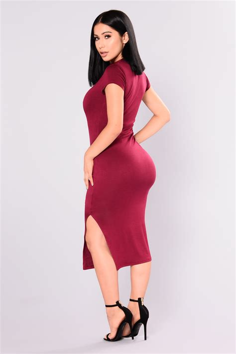 Fashion Wanita Dress Midi Dress dominique midi dress ruby