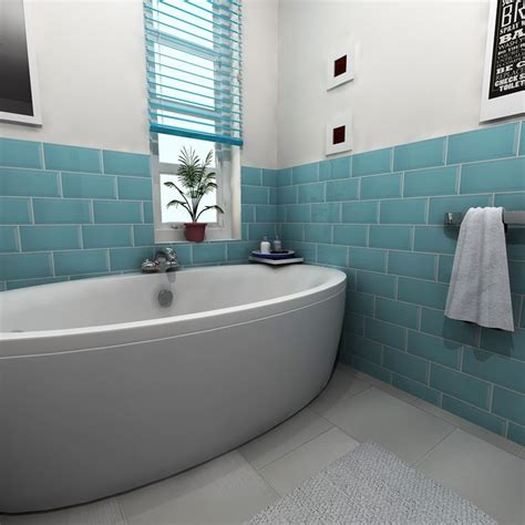 bathroom with blue tile 22 best images about a splash of colour on pinterest