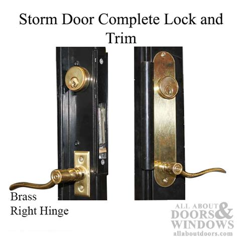 door kit brass lock security door complete kit lock trim right hinge