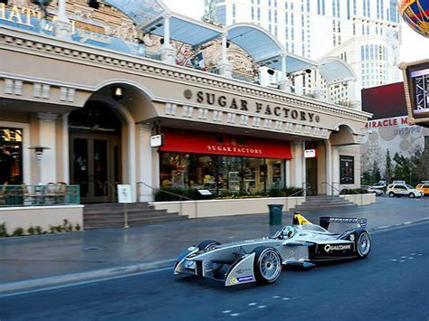formula e race car debut in las vegas drivespark