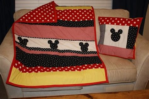 Mickey Mouse Bedding For Crib Mickey Mouse Inspired Crib Or Toddler Bed Quilt Set Quilt Toddler Bed And Bed Quilts