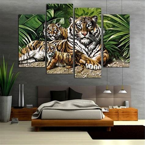 pcslot modern animal canvas wall art print oil painting