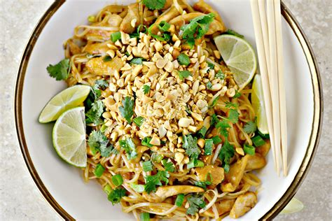 simply scratch easy chicken pad thai simply scratch