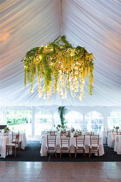 wedding decoration trend floral greenery chandelier 26
