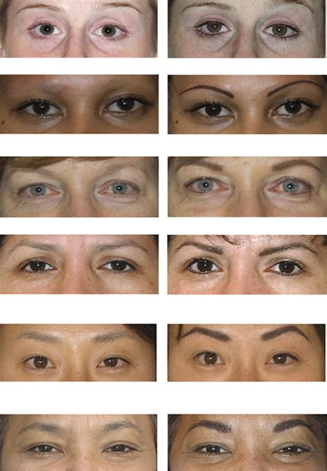 tattoo eyeliner before and after eyebrow permanent makeup before and after style guru