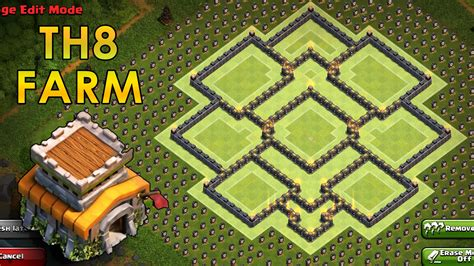 th8 layout new update clash of clans th8 farming base coc town hall 8 hyb