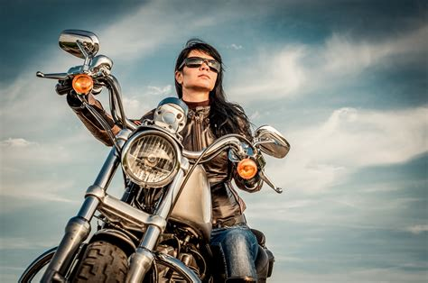 female motorcycle female motorcycle owner wild or confident