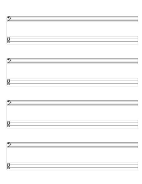 printable staff paper for guitar student resources
