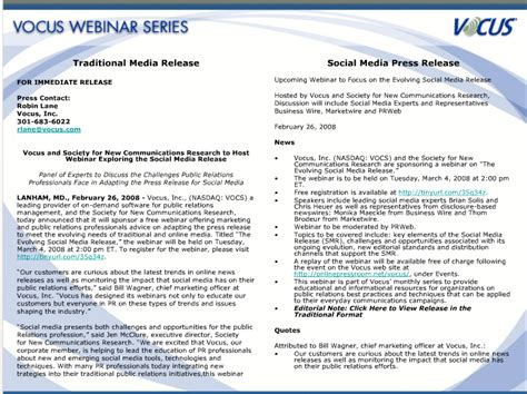 social media news release template the social media release is still a work in progress cbs