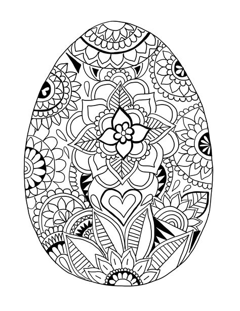 coloring easter eggs easter egg printable coloring page ooly